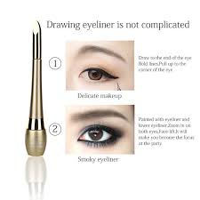 Online Shop 1pc 2 In 1 <b>Eyeliner Liquid Black Waterproof</b> Long ...