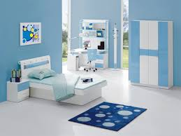 kids room blue bedroom interior design for kids with chic bed and desk 2583 throughout bathroomgorgeous inspirational home office desks desk