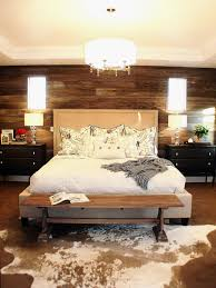 wood accent wall bed