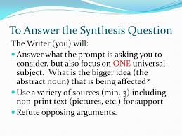 synthesis essay dbq versus synthesis dbq synthesis documents provided suggested  synthesis  argument the synthesis synthesis essay practice prompts pdf