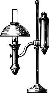 free vector antique desk electric lamp clip art antique office lamp