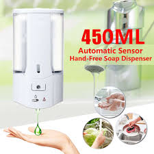 450mL <b>Wall Mounted Automatic</b> Soap Dispenser Infrared <b>Induction</b> ...