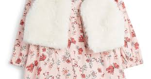 <b>Baby Girl Floral Dress</b> And Gilet | Baby Girl Outfits | Baby Girl | Baby ...