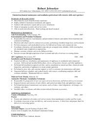resumes for maintenance workers   Template   resume for maintenance technician