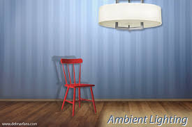 ambient lighting over a chair in a room ambient lighting creates