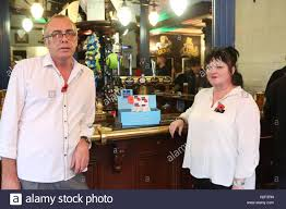 portsmouth hampshire th pictured landlord andy bar manager deborah ward customer dean pollen jack russell tony walker a pub landlord has slammed a disgusting theft after a charity box
