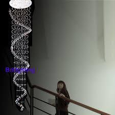modern crystal chandeliers led crystal pendant ceiling lamp staircase chandelier handing crystal stair lights crystal chandelier banner5 stair lighting