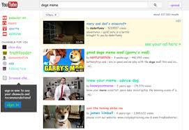 YouTube Easter Egg for Doge Meme via Relatably.com