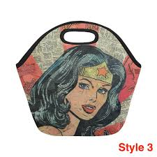Wonder Woman Large Insulated Lunch Bag (4 styles) - Flash SALE ...