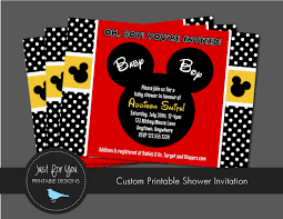 mickey mouse baby shower invitations com mickey mouse baby shower invitations engaging creative concept of invitation templates printable on your baby shower 17