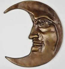 Decorative <b>Cast Iron Moon</b> Face <b>Wall</b> Hanging - 12 Tall | <b>Moon wall</b> ...