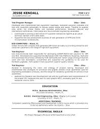 resume samples for software tester   fomsa resume one size fits alltest engineer resume manufacturing engineering