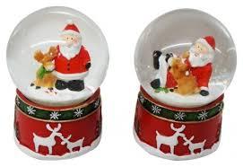 Снежный <b>шар Новогодняя сказка</b> Дед Мороз с оленем 6,5 см ...