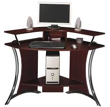 awesome cheap corner computer desk with dark brown finish adds a professional look to your home brown finish home office