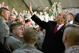 u s department of defense photo essay president george w bush waves to military members on bagram air field