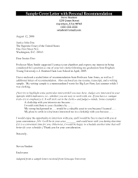 cover letter recommendation template cover letter recommendation