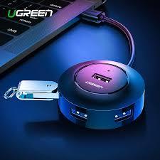 Ugreen USB <b>HUB 4</b> Port <b>USB 2.0</b> Splitter Switch with Micro USB ...