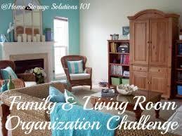 storage solutions living room:  organizing living room