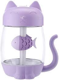E-Scenery Mini Cool Mist <b>Humidifier</b>, <b>Cute Cat</b> Shape 350ml <b>Aroma</b> ...