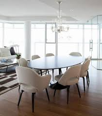 Dining Room Contemporary Dining Room With Black Oval Tulip Table - Dining room tables oval