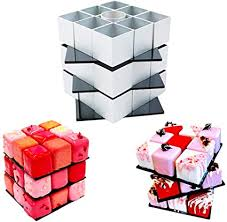 <b>Rubik's Cube</b> Cake Mould - Fidget DIY Baking Rotate <b>Magic Cube</b> ...