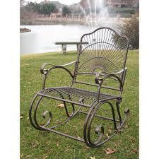 contoured patio rocking chair