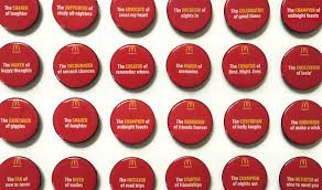 mcdonald s little moments of lovin on behance in the past these badges would usually contain a job description like cashier or manager but we replaced these descriptions of what mcdonald s