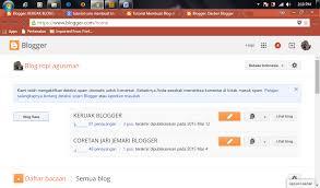 Hasil gambar untuk halaman dashboard blogger awalan