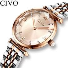 CIVO <b>Luxury</b> Crystal <b>Watch</b> Women Waterproof <b>Rose</b> Gold Steel ...