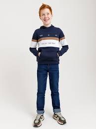 Прямые <b>джинсы для мальчиков</b> цвет: индиго, артикул: 0802071414