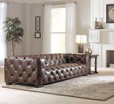 Oversized Living Room Furniture Oversized Brown Leather Tufted Sofa Button Tufted Design Solid