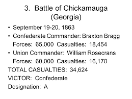 「Battle of Chickamauga casualties」の画像検索結果