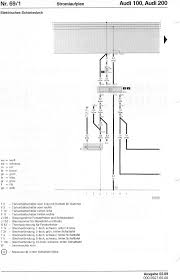 audi 100 200 factory wiring diagrams 69 electric sunroof from 1 88
