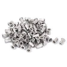 Uxcell M5 Aluminum Flat Head <b>Rivet Nut Rivnut</b> Insert <b>Nutsert</b> Silver ...