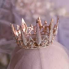 <b>Elegant</b> Rose Gold Bridal Hair Accessories <b>2019 Metal</b> Rhinestone ...