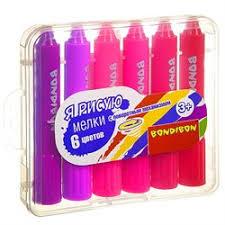 <b>Набор восковых мелков</b> 6 цветов <b>Bondibon</b> ВВ3463 купить в ...