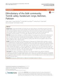 Ethnobotany of the balti community  tormik valley  karakorum range  b
