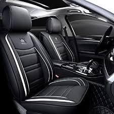 OUTOS Luxury Leather Auto Car Seat Covers 5 Seats ... - Amazon.com