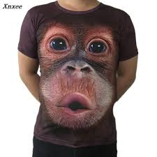 Plus Size S 5XL 3D T Shirt Mens Hot <b>2018 Summer</b> Animal Funny ...