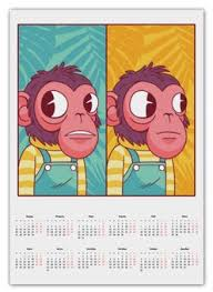 """<b>Календари</b> c прикольными принтами """"Животные"""" - <b>Printio</b>"""