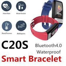<b>C20S Smart Bracelet</b> Waterproof Bluetooth Heart Rate Sleep Blood ...