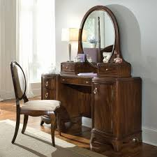 m retro brown polihed teak wood dressing table with oval mirror and cabinet storage also white shade table lamp 840x840 charming makeup table mirror lights