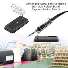 <b>Detachable Metal</b> Base Soldering Iron Gun Holder Stand Support ...