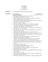 resumes for restaurants newsound co work experience resume sample resume examples resume objectives for managers resume example restaurant server experience resume examples restaurant server experience