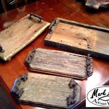 barnwood trays custom made by mark alan artisan woods barn wood ideas
