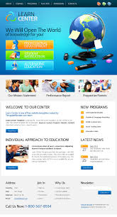 website template learning center zoom in