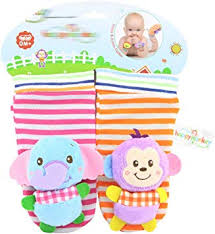 mxdmai <b>1 Pair Baby</b> Socks Rattle Warm Thick Winter Socks with ...