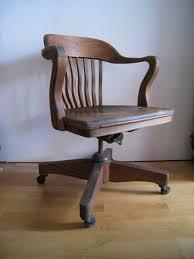 oak desk chair art deco swivel tilting rolling office chair antique deco wooden chair swivel