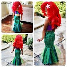 2018 sexy costumes for <b>baby girls princess ariel</b> dress The little ...