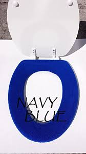 washable navy blue bathroom